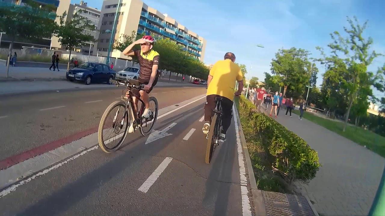 En bici contra el coronavirus.