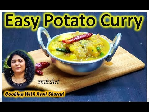 Easy Potato Curry | Side Dish For Chapati, Appam | Kerala Dinner Food | Vegan Curry Recipes