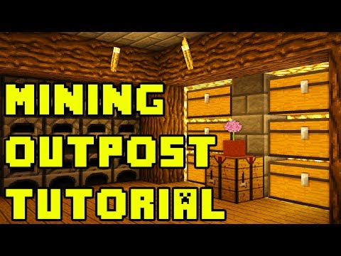 Minecraft: Mining Base Outpost Tutorial Xbox/PE/PC/PS3/PS4
