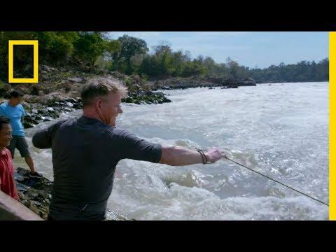 Gordon Ramsay Goes Cast Net Fishing in Laos | Gordon Ramsay: Uncharted