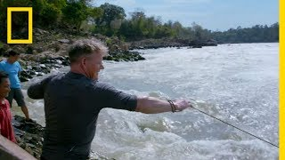 Gordon Ramsay Goes Cast Net Fishing in Laos | Gordon Ramsay: Uncharted