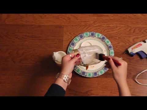 How to make a snowman lantern decoration