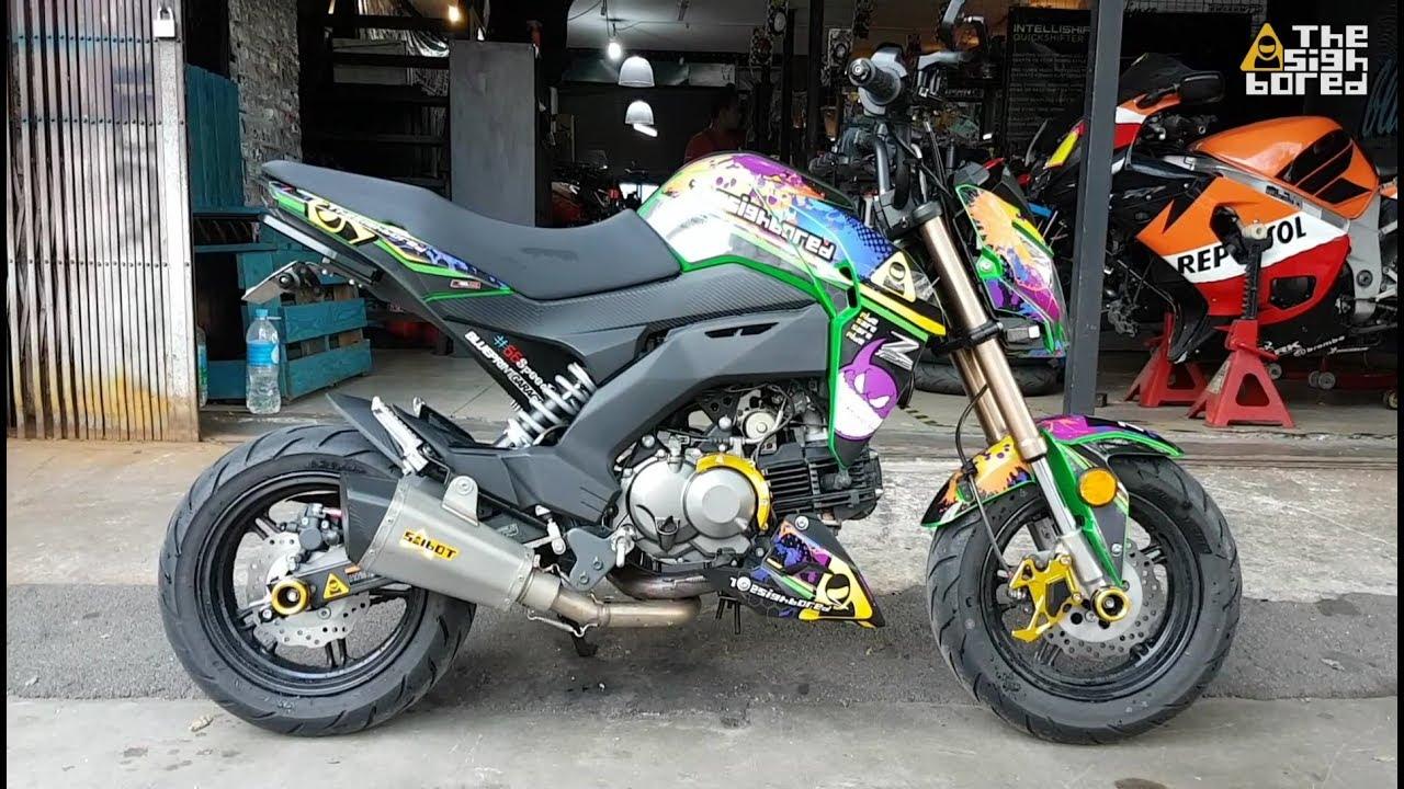 Kawasaki Z125 Pro Modifications 4 Kemimoto Parts Youtube