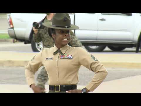 Marine Recruit Depot San Diego Welcomes Its First Female Recruits