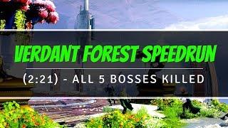 Verdant Forest Speedrun 2:21 (Fresh Start To All 5 Bosses Killed) | Destiny 2