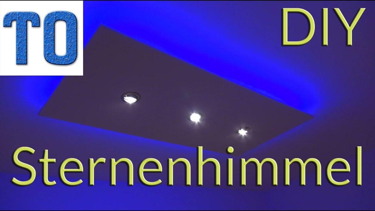 sternenhimmel selber bauen deckenlampe bauanleitung deutsch diy youtube. Black Bedroom Furniture Sets. Home Design Ideas