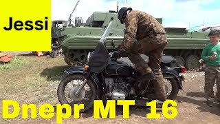 Dnepr Ural Motorcycle in Action