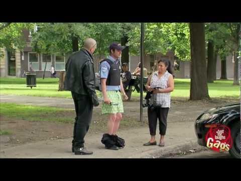 Hidden Camera - Biker Humiliates Cops