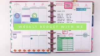 Weekly Paycheck to Paycheck Budget With Me | Happy Planner #budgetwithme