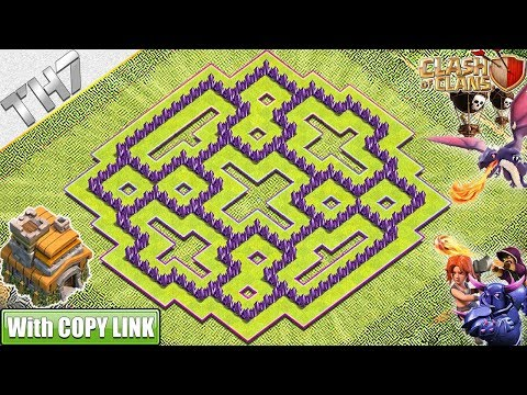 NEW BEST TH7 HYBRID/TROPHY Base 2019! TH7 Base With COPY LINK - Clash Of Clans