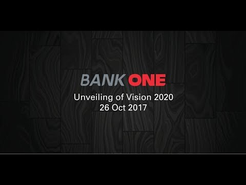 Unveiling of Bank One Vision 2020