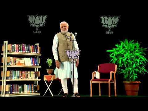 "Shri Narendra Modi addressing ""Bharat Vijay"" rallies across India via 3D Technology"