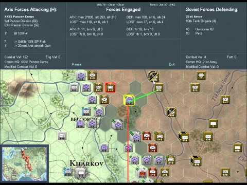 War In the east 1942 scenario soviet turn 1 |
