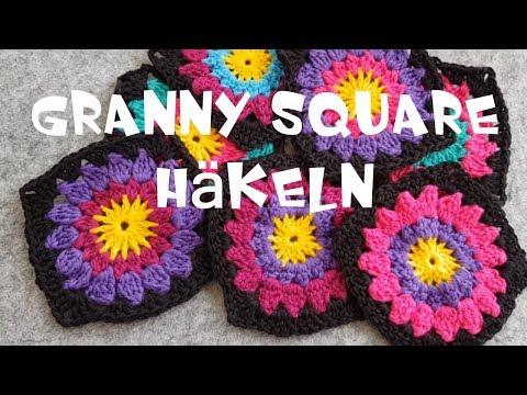 EINFACHES Blumen Granny Square häkeln super für Anfänger geeignet by ...