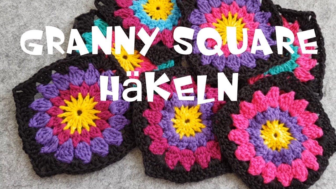 Diy Blumen Granny Square Granny Square Häkeln Deutsche