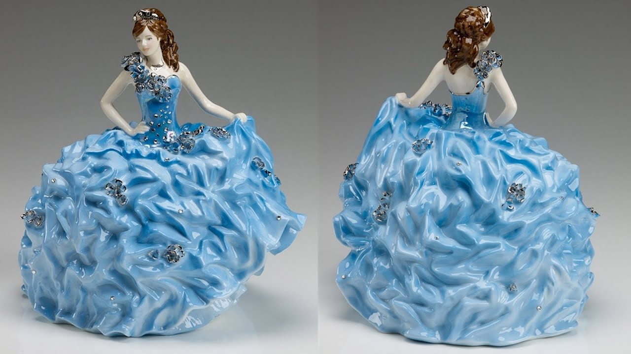 Sondra Celli Gown Becomes a Porcelain Figurine - YouTube