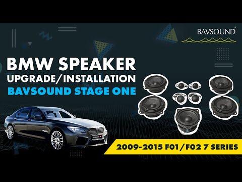 Bavsound BMW Speaker Upgrade 2009-2015 F01/F02 7 Series Installation Video
