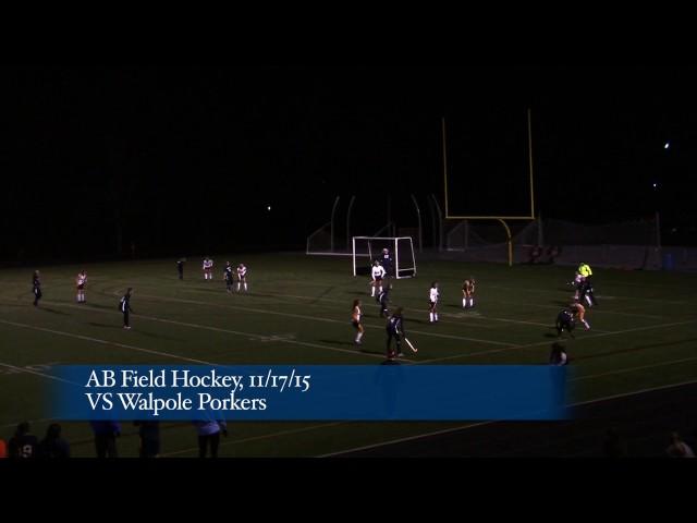 Acton Boxborough Varsity Field Hockey vs Walpole 11/17/15