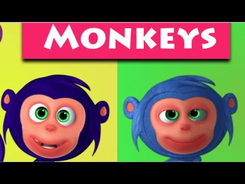 Ten Little Monkeys 3D Rhymes | Nursery Rhymes & Kids Songs | 3D Rhymes