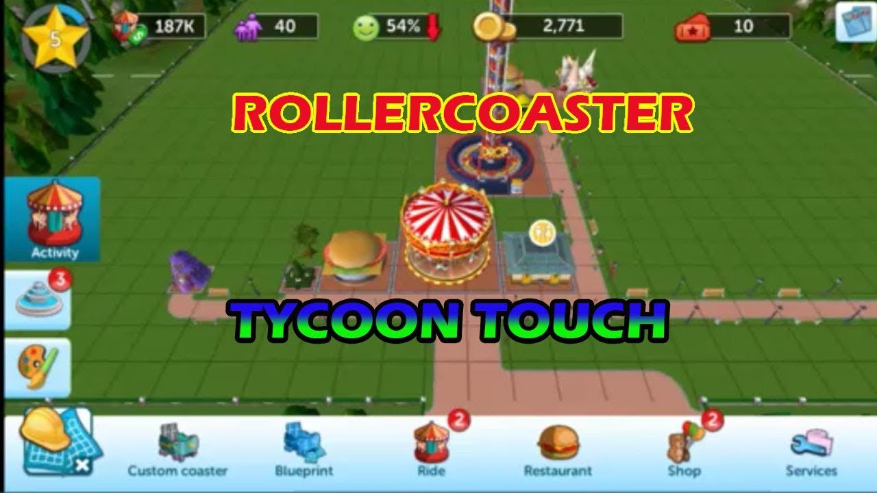 ROLLERCOASTER TYCOON TOUCH - HUNDREDS OF CARDS COLLECTED ANDROID GAMEPLAY