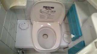 Chemie Toilette im Wohnwagen