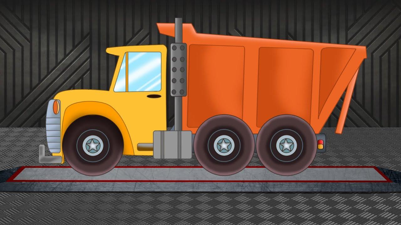 dump truck formation uses cartoon truck vehicles for rh youtube com cartoon dump truck show vector cartoon dump truck