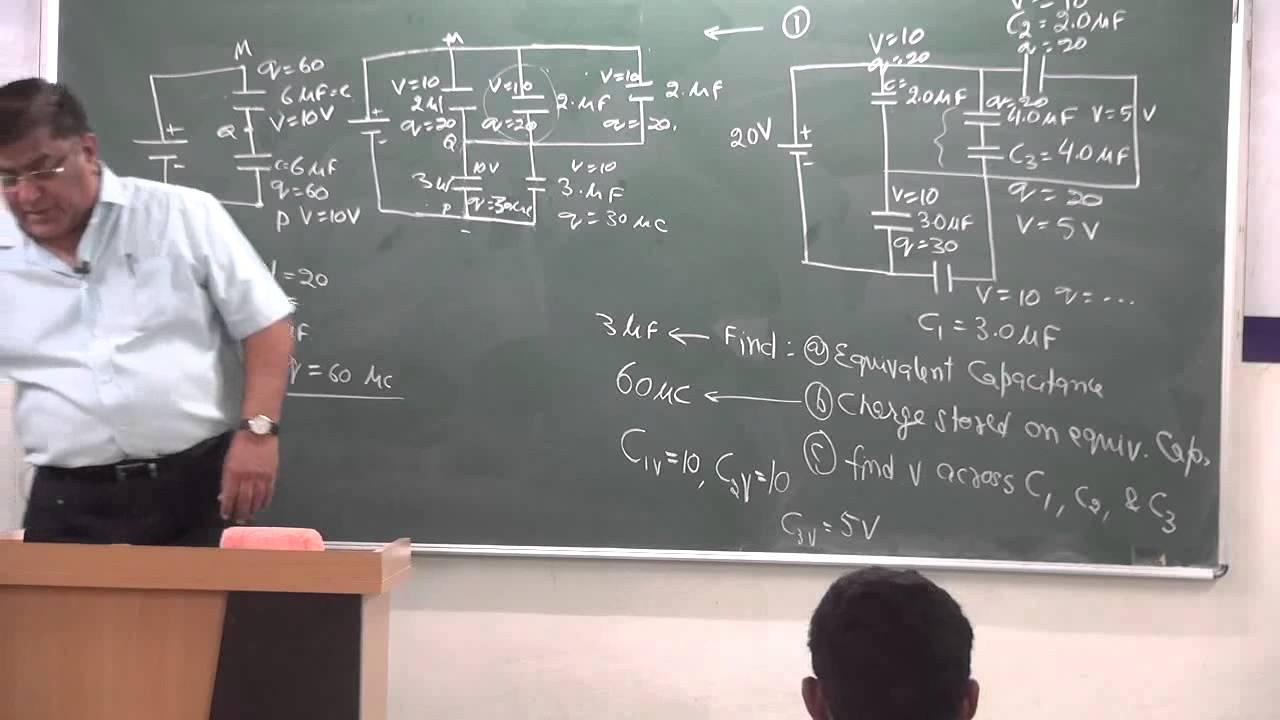 Xii 1 26 capacitor numericals pradeep kshetrapal physics 2014 youtube
