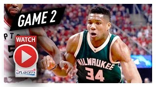 Giannis Antetokounmpo Full Game 2 Highlights vs Raptors 2017 Playoffs - 24 Pts, 15 Reb, 7 Ast