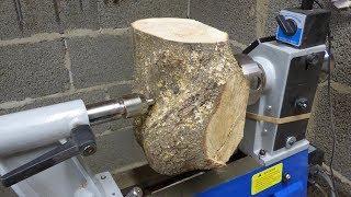 Woodturning - Oak Crotch Bowl (+Fixing big crack)