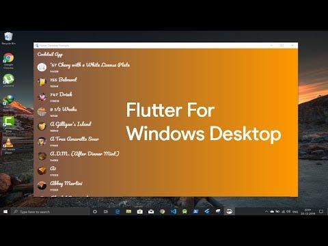Flutter Windows Desktop App   Early Preview