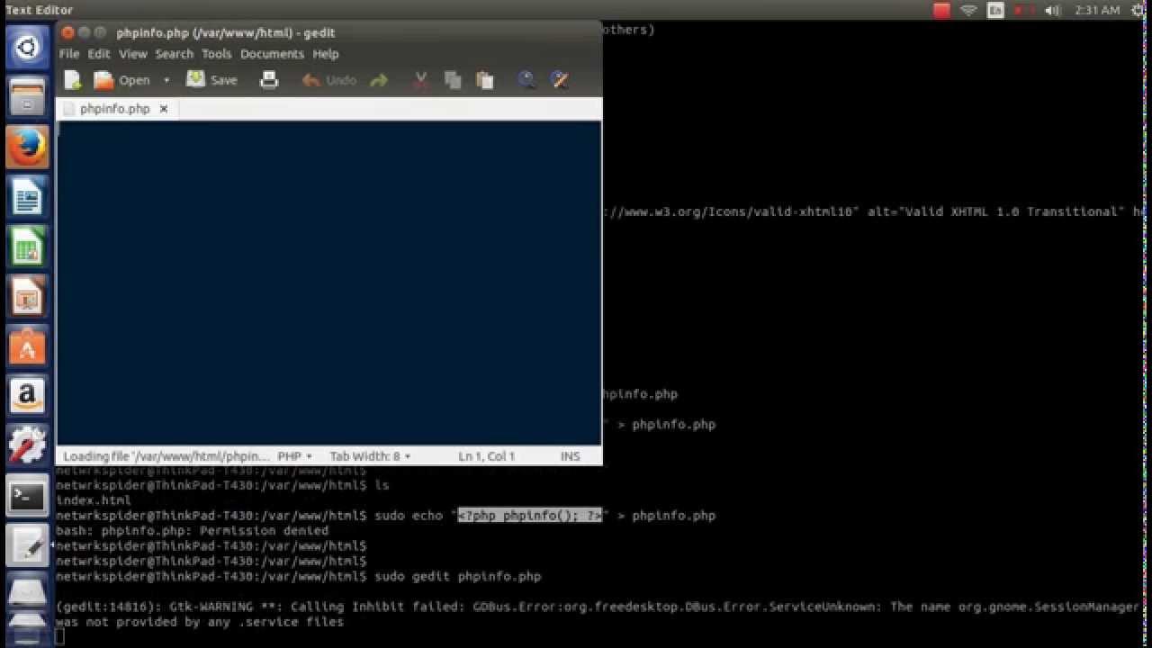 How To : Install LAMP Server On Ubuntu 14.04 LTS ( PHP 5.5.9 , Mysql 5.5,  Apache 2.4.7 )