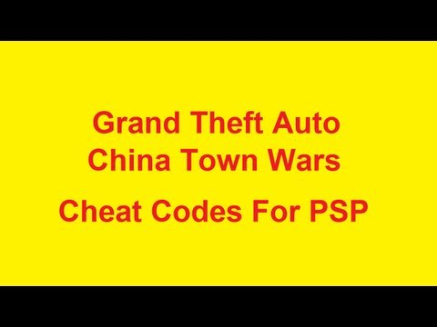Grand Theft Auto China Town Wars Cheat Codes - PSP