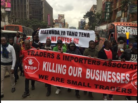 DEMOS rock Nairobi as Business owners shut down!