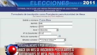 Elecciones 2011: abrieron la inscripción para autoridades de Mesa