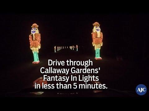 VIDEO: Drive through Callaway Gardens' Fantasy In Lights