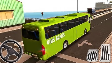 Coach Bus Simulator - Driving Green Bus Drive Android GamePlay