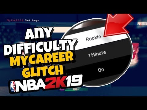 NBA 2k19 MyCareer 2xp Glitch! Difficulty Glitch Revealed!! Become A 99 FAST!