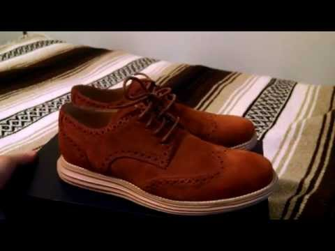 Cole Haan Lunargrand Wingtip Oxfords Woodbury Gum Suede Brogue Derbies Review