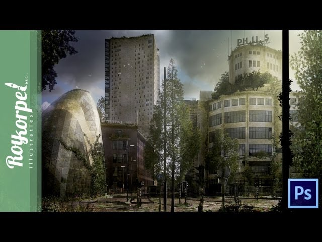 Abandoned city Eindhoven - Photoshop speedart - time-lapse