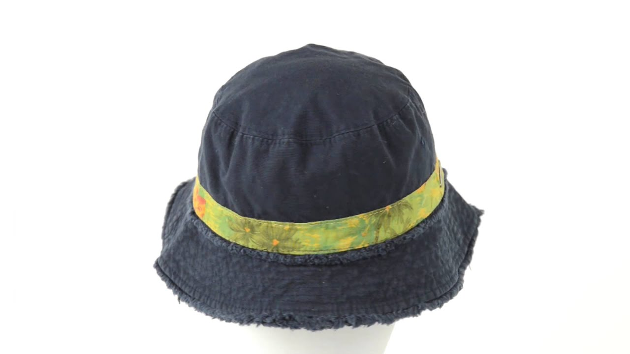 0f77d98793d157 Panama Jack Frayed Bucket Hat - Cotton Twill (For Men and Women ...