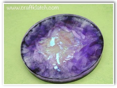 Faux Amethyst Geode Coaster DIY   Another Coaster Friday