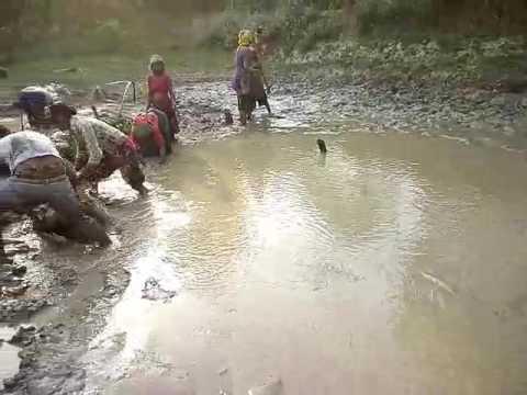 Chaudhary people fishing in Nepal