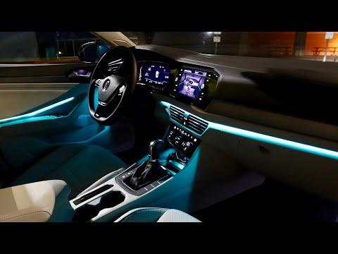 VW Jetta SEL Premium Interior/Exterior Lighting Review | Sweet Ambient Lights!