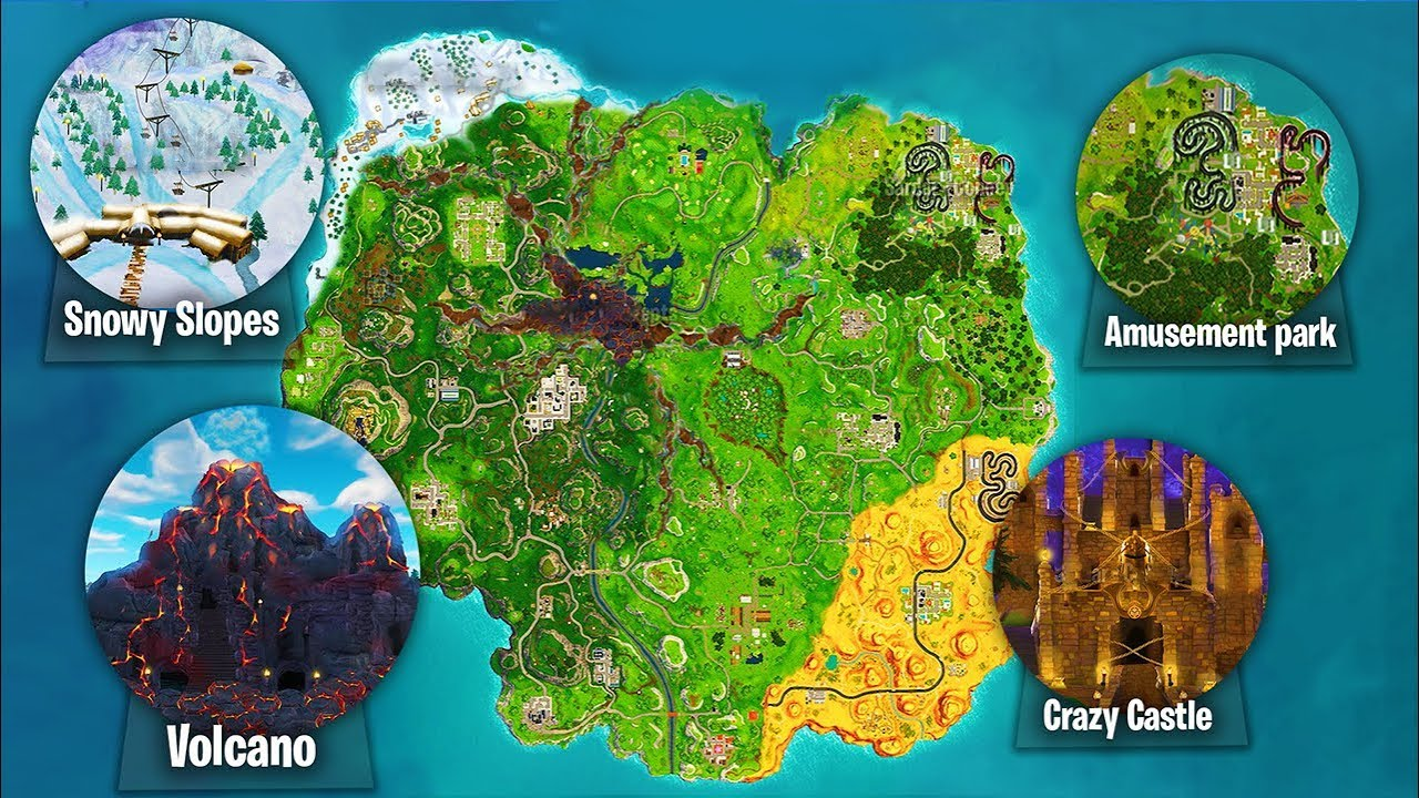 The New Season 6 Map In Fortnite Fortnite Battle Royale Season