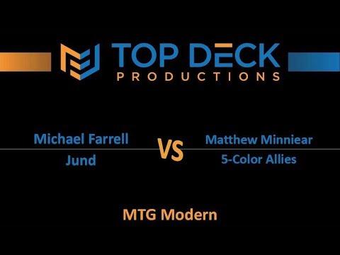 Modern w/ Commentary 10/31/17: Michael Farrell (Jund) vs. Matthew Minniear (5-Color Allies)