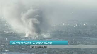 Vía telefónica ex trabajador de fabrica incendiada