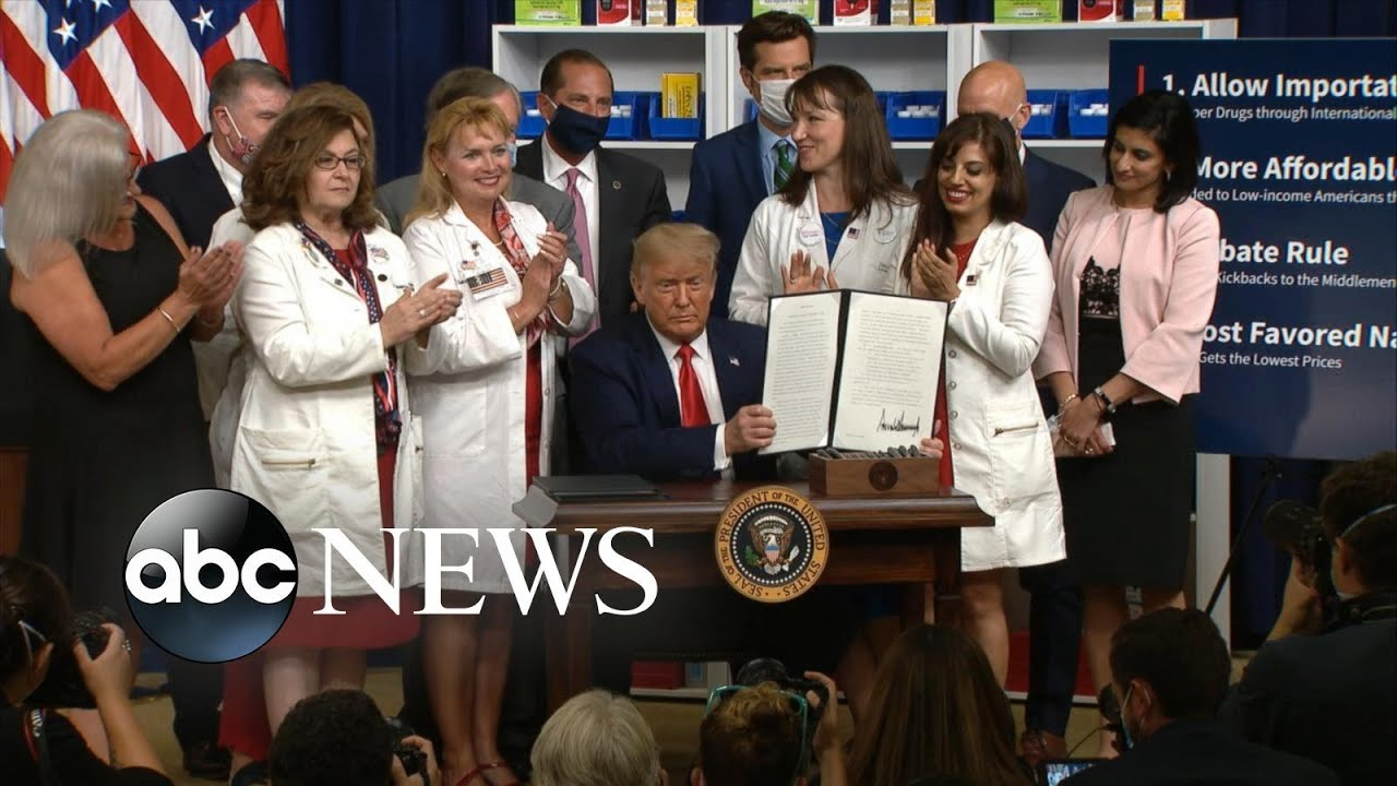 Trump signs 4 executive orders on lowering drug prices