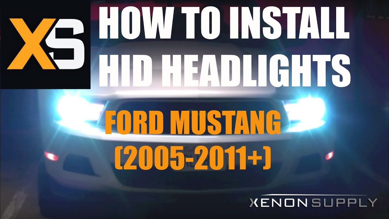 maxresdefault ford mustang hid how to install (bi xenon) 2005 2011 youtube
