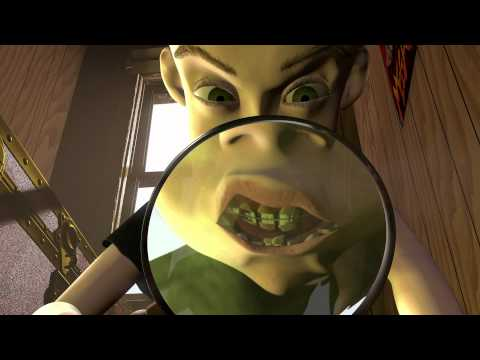 Toy Story  Sid tortures Woody with magnifying glass HD