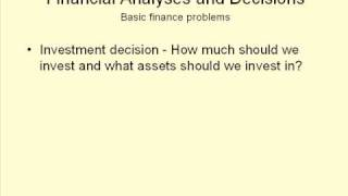 HMP 607 - 01. Finance and the Financial Manager